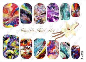 Vanilla Nail Art Slider No. A-059