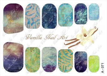 Vanilla Nail Art Slider No. A-071