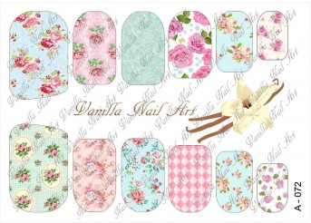 Vanilla Nail Art Slider No. A-072