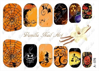 Vanilla Nail Art Slider No. A-076
