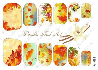 Vanilla Nail Art Slider No. A-081