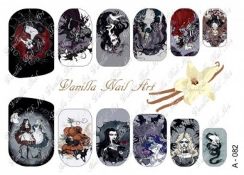 Vanilla Nail Art Slider No. A-082