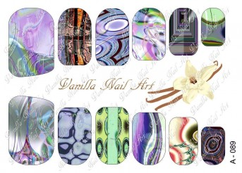 Vanilla Nail Art Slider No. A-089