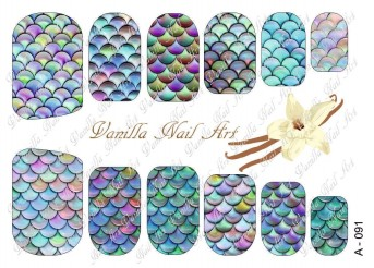 Vanilla Nail Art Slider No. A-091