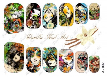 Vanilla Nail Art Slider No. A-092