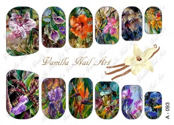 Vanilla Nail Art Slider No. A-093