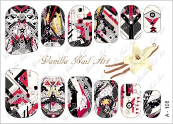 Vanilla Nail Art Slider No. A-108