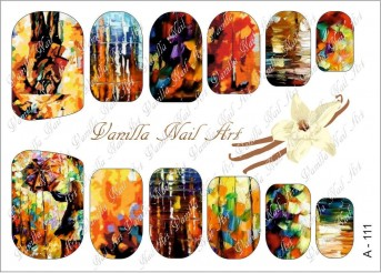 Vanilla Nail Art Slider No. A-111