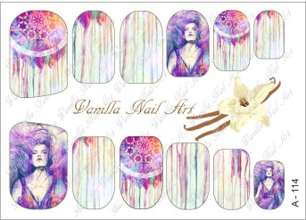Vanilla Nail Art Slider No. A-114