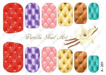 Vanilla Nail Art Slider No. A-201