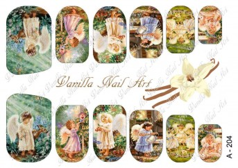 Vanilla Nail Art Slider No. A-204