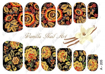 Vanilla Nail Art Slider No. A-205