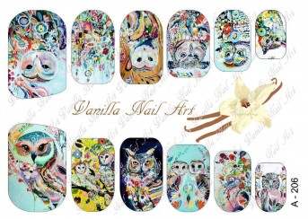 Vanilla Nail Art Slider No. A-206