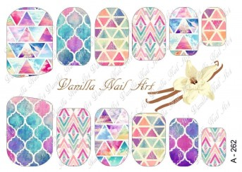 Vanilla Nail Art Slider No. A-262