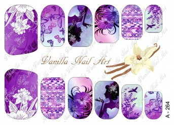 Vanilla Nail Art Slider No. A-264