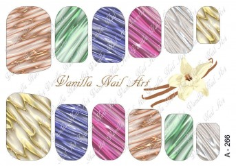 Vanilla Nail Art Slider No. A-266