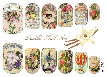 Vanilla Nail Art Slider No. A-270