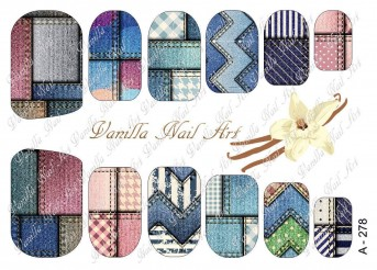 Vanilla Nail Art Slider No. A-278