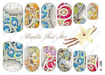Vanilla Nail Art Slider No. A-286