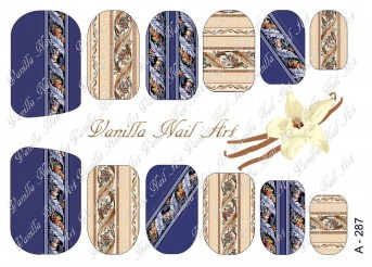 Vanilla Nail Art Slider No. A-287