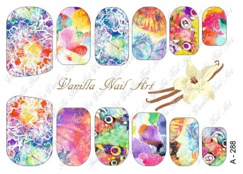 Vanilla Nail Art Slider No. A-288