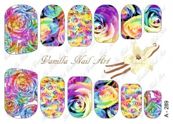 Vanilla Nail Art Slider No. A-289