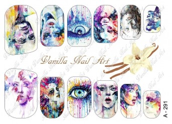 Vanilla Nail Art Slider No. A-291