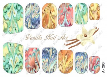 Vanilla Nail Art Slider No. A-293