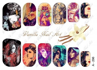 Vanilla Nail Art Slider No. A-296