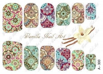 Vanilla Nail Art Slider No. A-300