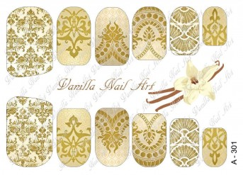 Vanilla Nail Art Slider No. A-301