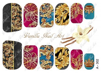 Vanilla Nail Art Slider No. A-302