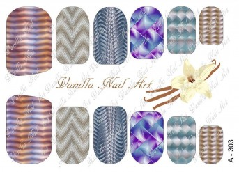 Vanilla Nail Art Slider No. A-303