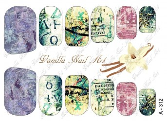 Vanilla Nail Art Slider No. A-312