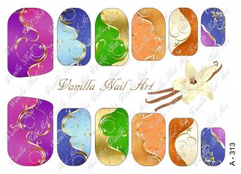 Vanilla Nail Art Slider No. A-313