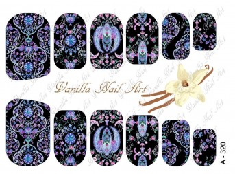 Vanilla Nail Art Slider No. A-320