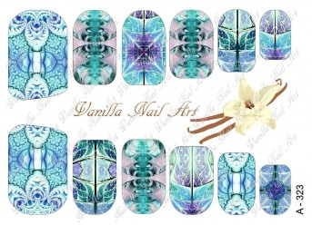Vanilla Nail Art Slider No. A-323