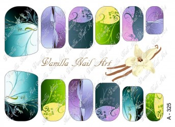 Vanilla Nail Art Slider No. A-325