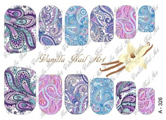 Vanilla Nail Art Slider No. A-326