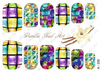Vanilla Nail Art Slider No. A-330