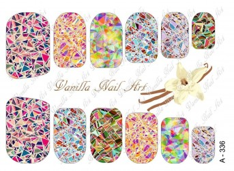 Vanilla Nail Art Slider No. A-336