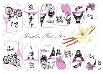 Vanilla Nail Art Slider No. A-337