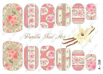 Vanilla Nail Art Slider No. A-338