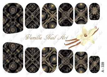 Vanilla Nail Art Slider No. A-339