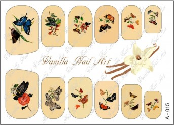 Vanilla Nail Art Slider No. A-015