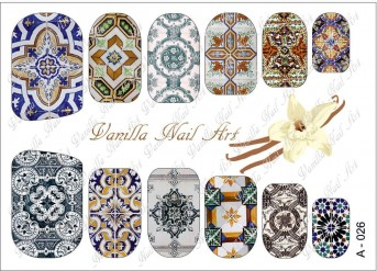 Vanilla Nail Art Slider No. A-026