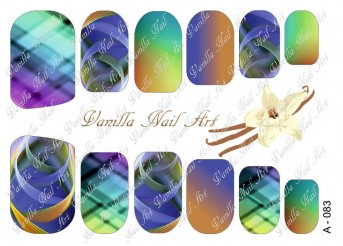Vanilla Nail Art Slider No. A-083