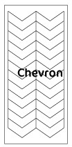 French Schablonen Top Qualität Chevron, 5er Pack
