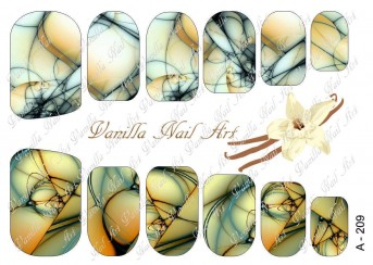 Vanilla Nail Art Slider No. A-209