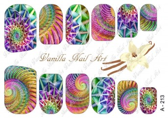 Vanilla Nail Art Slider No. A-213